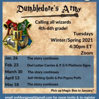 Dumbledore's Army, 4th-6thg grade: Zoom