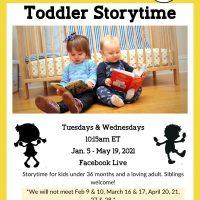Toddler Storytime: Facebook Live