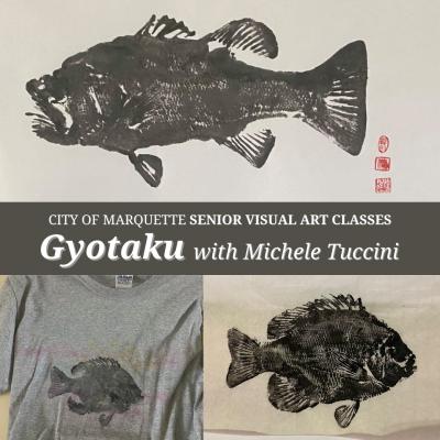 Senior Arts: Gyotaku with Michele Tuccini